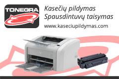 Kasečių pildymas, spausdintuvų taisymas